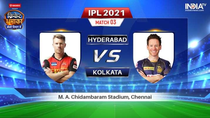 SRH vs KKR Live IPL 2021 Match: Watch Sunrisers Hyderabad vs Kolkata Knight Riders Live Online Hotst