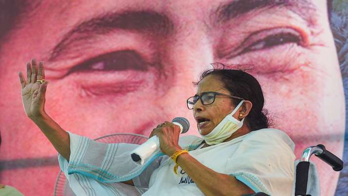 West Bengal Chief Minister Mamata Banerjee during an