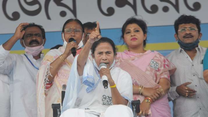 TMC supremo Mamata Banerjee during the campaign for the