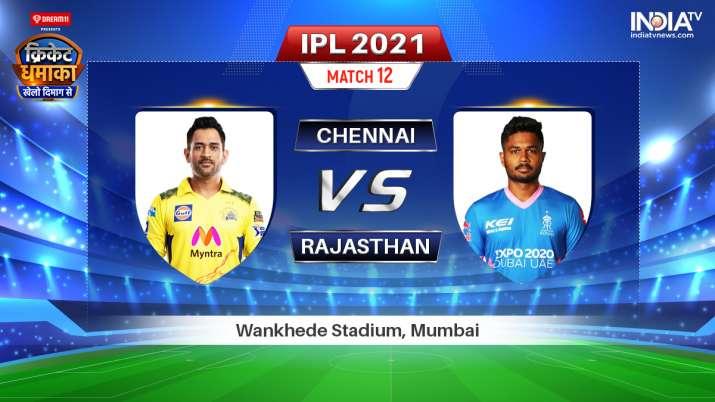 Live IPL 2021 Match CSK vs RR: Watch Chennai Super Kings vs Rajasthan Royals Live Online
