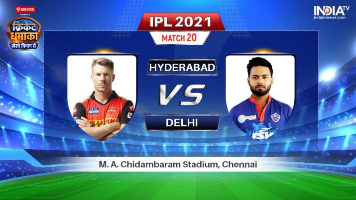 Live IPL 2021 Match SRH vs DC: Where to Watch Sunrisers Hyderabad vs Delhi Capitals Live Online
