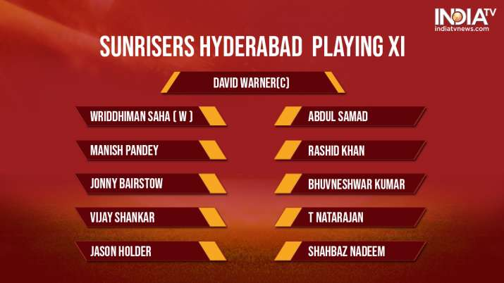 India Tv - SRH playing XI