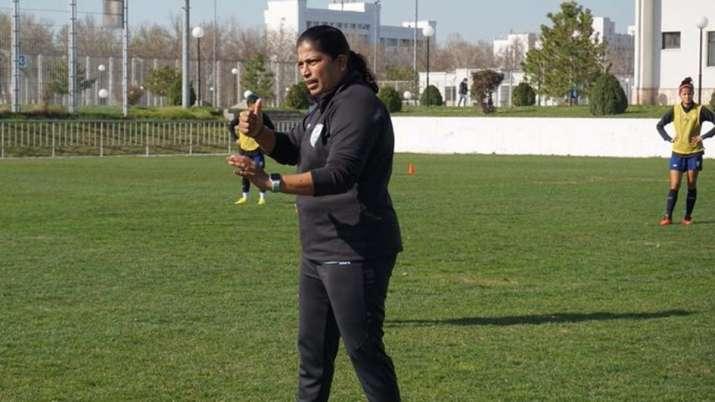 India's women's football head coach Maymol Rocky.