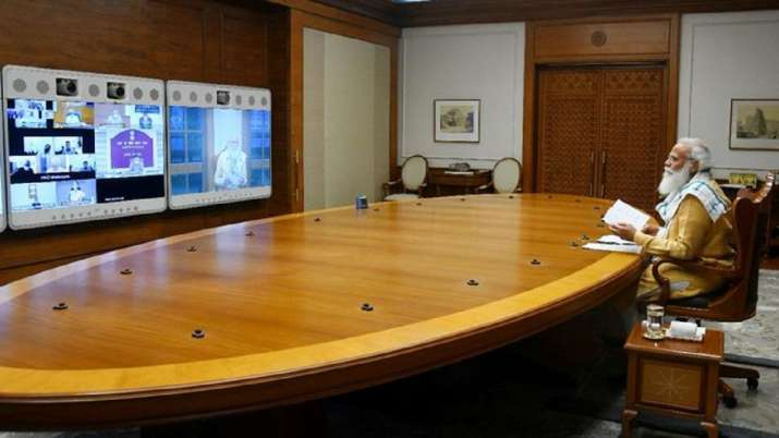 PM Modi chairs Covid review meet with top officials.