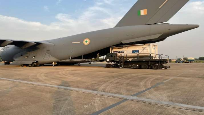 COVID-19, Indian Air Force, cryogenic oxygen containers, Singapore, coronavirus pandemic, IAF, Oxyge