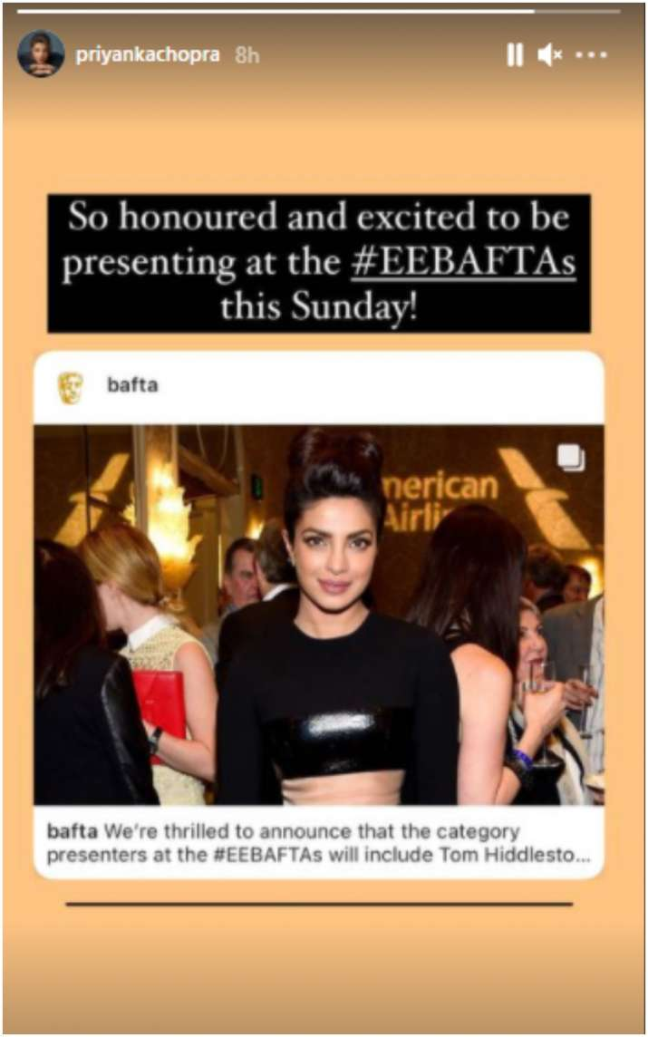 India Tv - Priyanka Chopra is a presenter at 74th British Academy Film Awards, says 'honoured and excited'