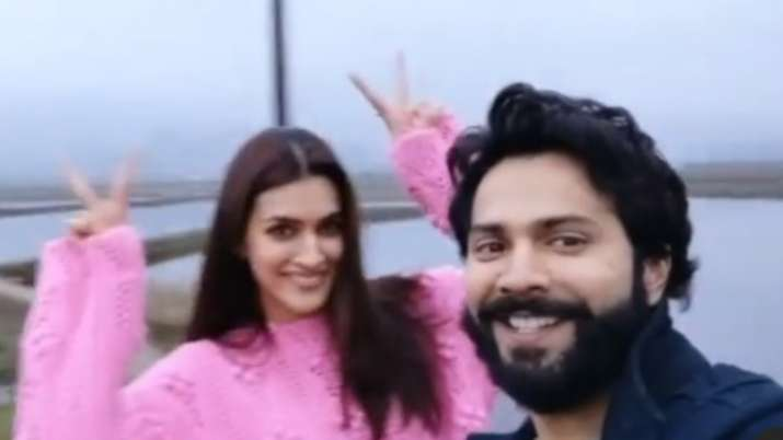 Kriti Sanon shares BTS clip with Varun Dhwan as Arunachal shoot of Bhediya ends; watch