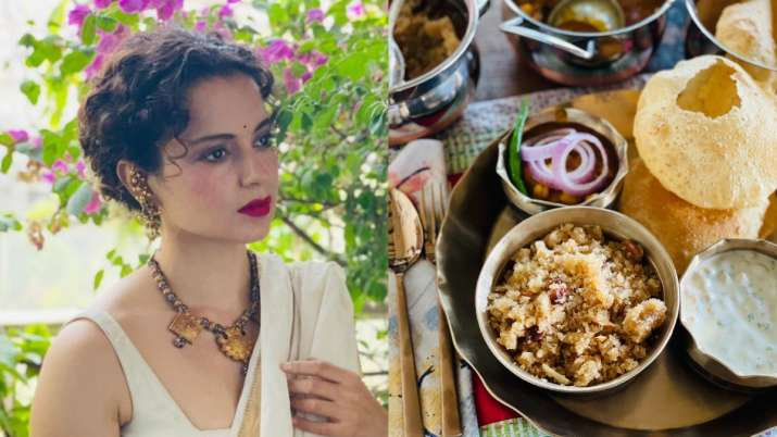 Kangana Ranaut reacts on being trolled for posting pic of 'prasadam thali' with onions