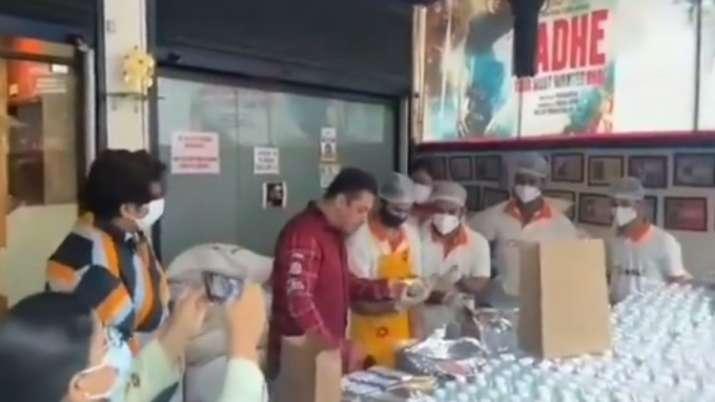 Covid-19: Salman Khan begins 'Being Haangryy' initiative to feed frontline workers in Mumbai | Video