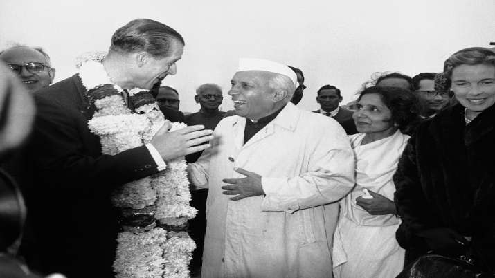Prince Philip dies India visit, Jawaharlal Nehru