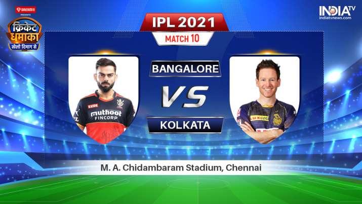 Live IPL 2021 Match RCB vs KKR: Watch Royal Challengers Bangalore vs Kolkata Knight Riders Live Onli