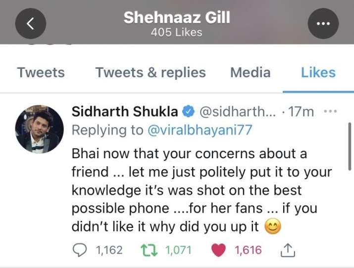 India Tv - Sidharth Shukla's tweet