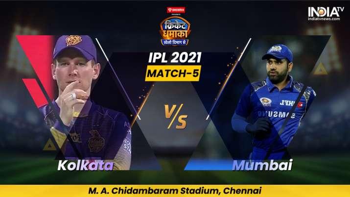 Live Cricket Score, Match 5, KKR vs MI: Follow Live score and updates from Chennai