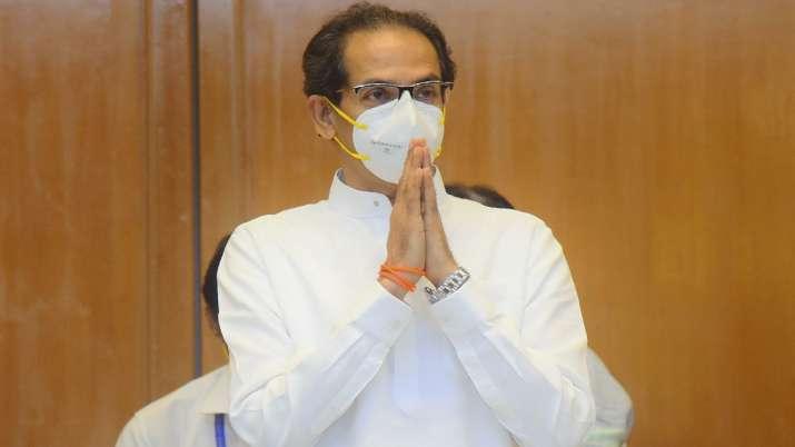 Maharashtra Chief Minister Uddhav Thackeray during an