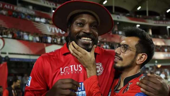 Yuzvendra Chahal and Chris Gayle