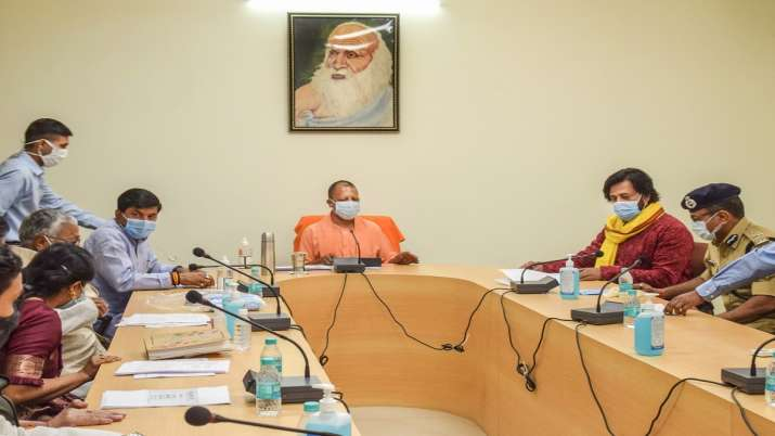 UP CM Yogi Adityanath chaired a meeting in view of rising