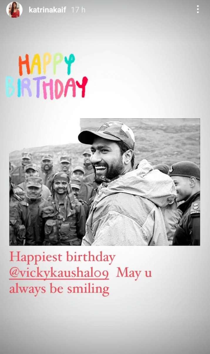 India Tv - Katrina's wish for Vicky on his birthday