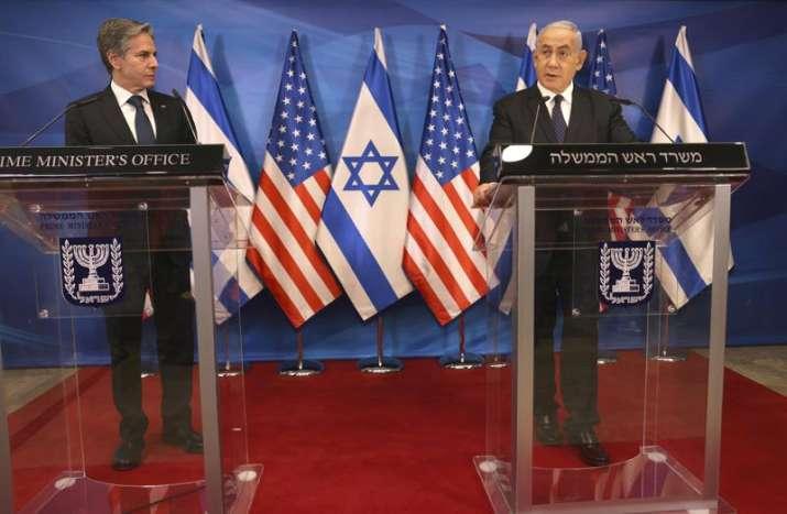 Israeli Prime Minister Benjamin Netanyahu, right, and U.S.