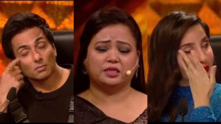 Dance Deewane: Sonu Sood, Nora Fatehi break down listening to why Bharti Singh doesn't feel like hav