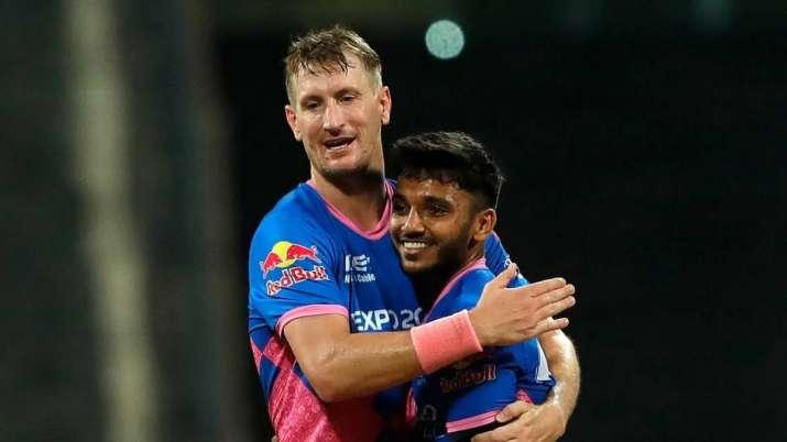 Rajasthan Royals' Chris Morris and Chetan Sakariya, IPL 2021