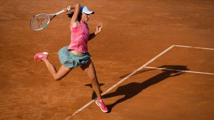 Defending French Open champion Iga Swiatek