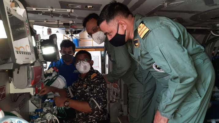 Indian Navy, convert, all weather chopper, air ambulance, critical, patients, evacuation, MICU, ALH