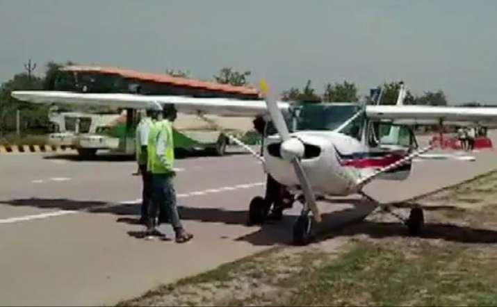 Training aircraft makes emergency landing on Yamuna