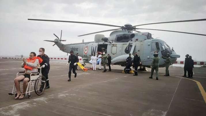 ongc, bombay high, mumbai oil field, mumbai coast, cyclone tauktae, indian navy rescue operations