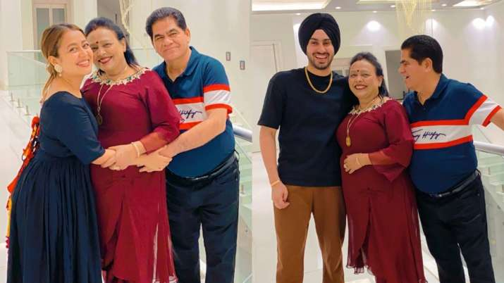 Neha Kakkar, hubby Rohanpreet celebrate parents' wedding anniversary in Rishikesh | PICS