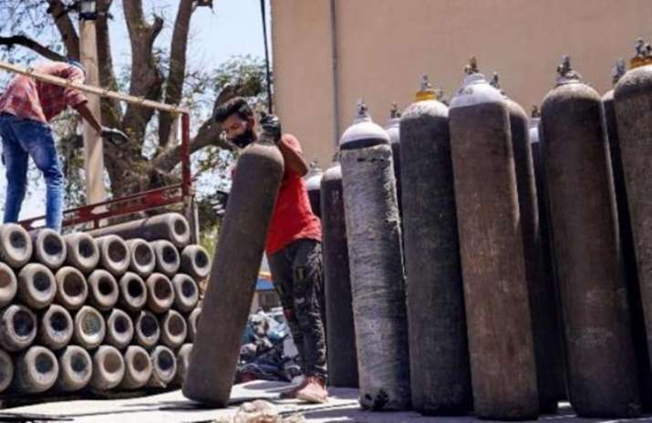 Police seized 532 fire extinguisher iron gas cylinders of