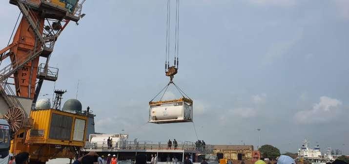 Samudra Setu II, medical equipment, COVID-19, Indian naval ship, oxygen, Mumbai, Qatar, coronavirus