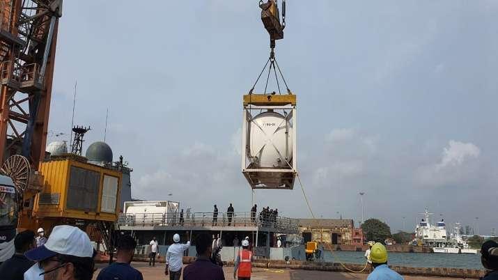 Operation Samudra Setu II, India, 54 tonnes liquid oxygen, Bahrain, coronavirus pandemic, indian nav