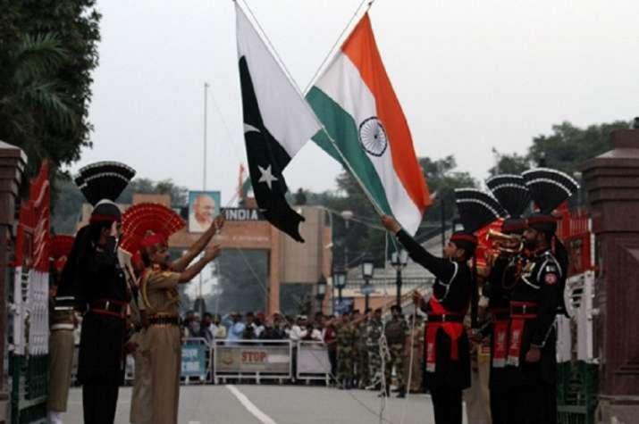 india pak flags