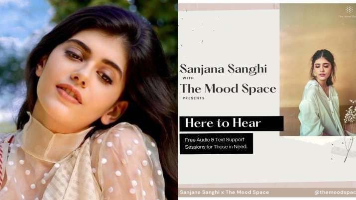 Sanjana Sanghi launches mental health campaign titled Here to Hear