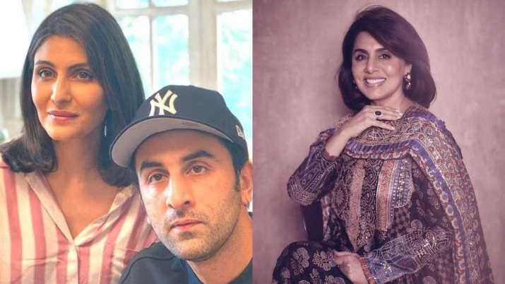 Neetu Kapoor, Ranbir Kapoor, Riddhima Kapoor Sahni