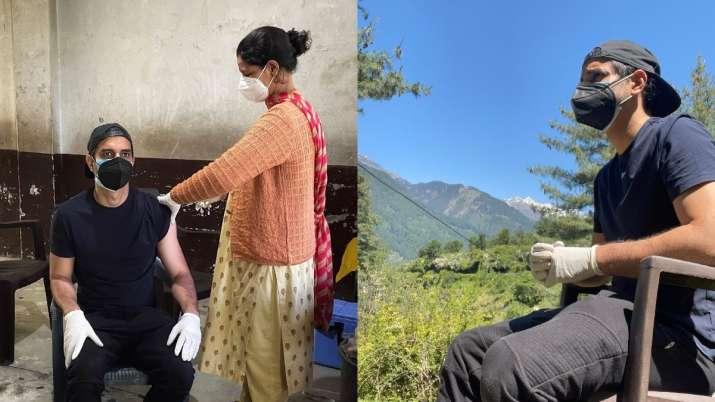 Tahir Raj Bhasin receives his first jab of Covid-19 vaccine