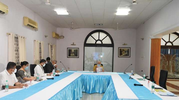 PM Modi during review meeting over cyclone Yaas in Benga.