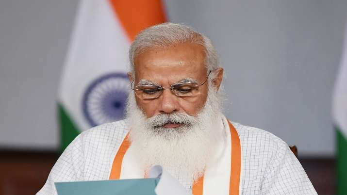 Prime Minister Narendra Modi interacts with the state and