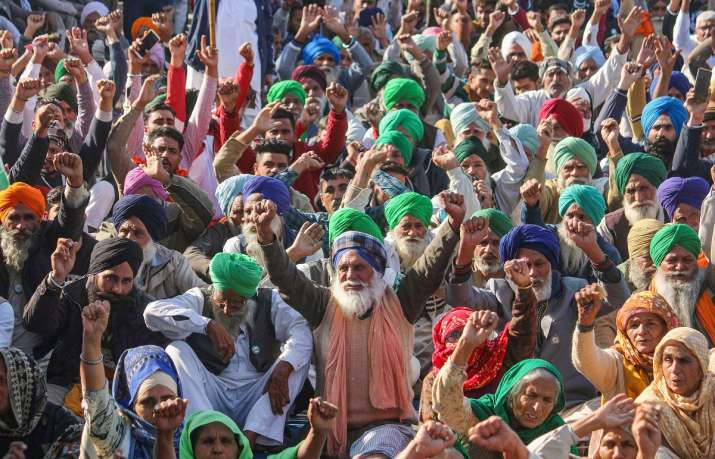 Thousands of farmers have been camping at three Delhi