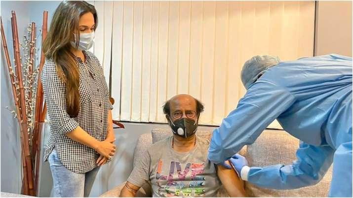 Rajinikanth's vaccination