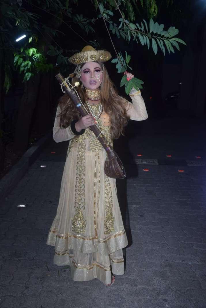 India Tv - Rakhi Sawant dresses up as Mastani from Bajirao Mastani