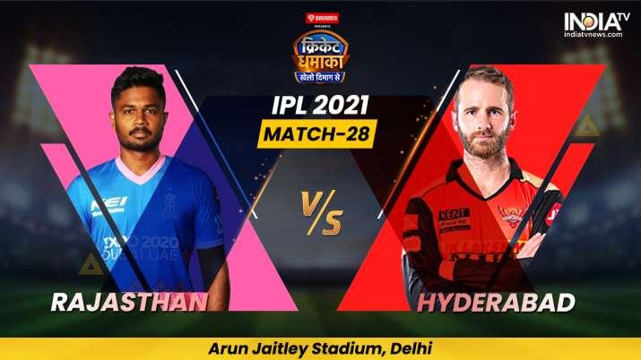 Live Score IPL 2021 RR vs SRH: Live Updates from Delhi