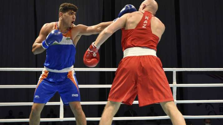 Sanjeet in action during his win over 5 time Asian