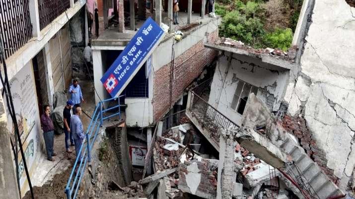 Several buildings were washed away at at Devprayag market
