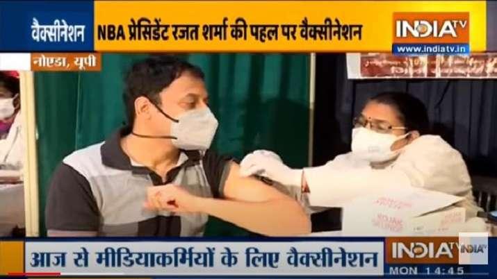 Uttar Pradesh govt organises Covid-19 vaccination camp for media officials, Rajat Sharma thanks CM A