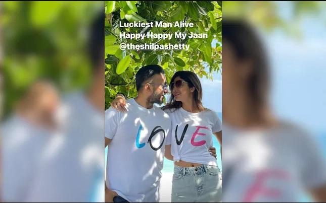 India Tv - Raj Kundra shares birthday post for wife Shilpa Shetty