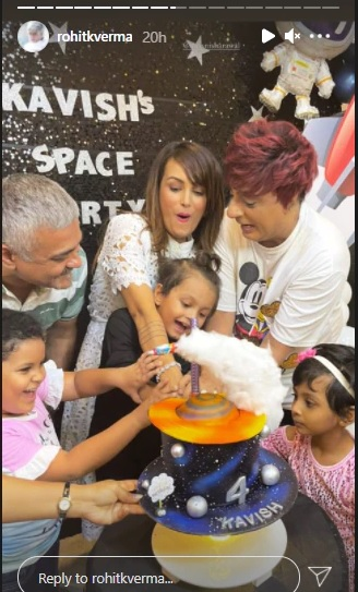 India Tv - Nisha celebrates Kavish's birthday with close friend Rohit