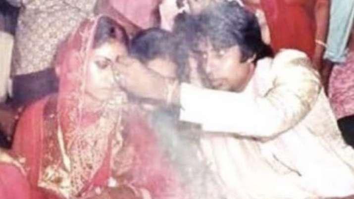 Amitabh Bachchan shares unseen wedding photos with wife Jaya Bachchan