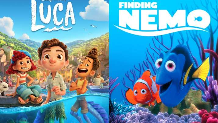 Posters of Luca and Finding Nemo