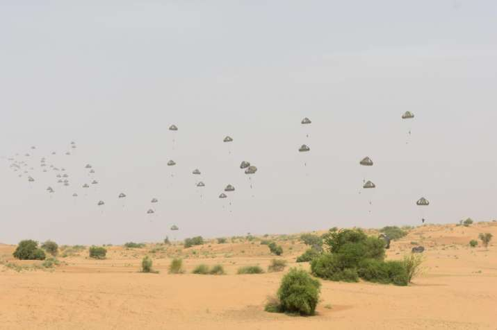 India Tv - Shatrujeet Brigade of Indian Army conduct Airborne Exercise to validate its Rapid Response Capability